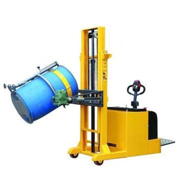 虎力 平衡重式全电动油桶堆高车,载重:420kg 手动抱夹 电动起升 电动翻转 起升高度2400mm,CES420A