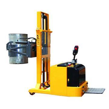 虎力 平衡重式全电动油桶堆高车,载重:420kg 电动抱夹 电动起升 电动翻转 起升高度2400mm,CES420