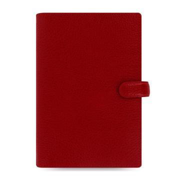 斐来仕 笔记本,022497 Filofax Finsbury 真牛皮活页记事本 A6 红色
