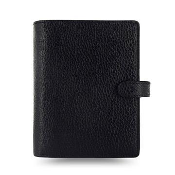 斐来仕 笔记本,025360 Filofax Finsbury 真牛皮活页记事本 A7 黑色