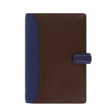 斐来仕 笔记本,025135 Filofax Nappa 活页本 A6 蓝褐色
