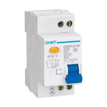正泰CHINT 微型剩余电流保护断路器 DZ267LE-32 1P+N 16A C型 30mA AC