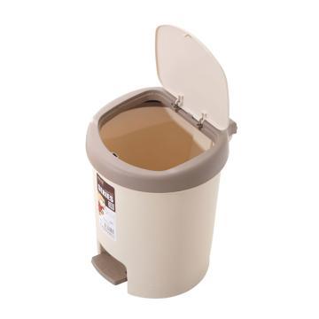 健安豪华脚踏垃圾桶,2808 31x28.5x36.5cm 咖啡色 8个/箱 单位:个