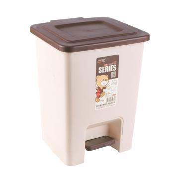 健安豪华脚踏卫生桶,大号16L 2803 27.5x27x36cm 咖啡色 8个/箱 单位:个