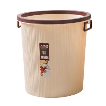 健安带圈大号垃圾桶,2835 27cmx27cmx29.5cm 咖啡色 36个/箱 单位:个
