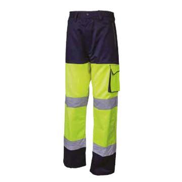 代尔塔DELTAPLUS 荧光裤子,404013-JM-S,PHPA2 黄色+藏青色
