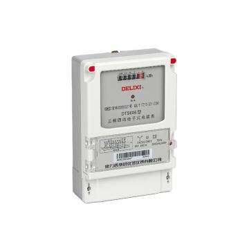 德力西DELIXI 三相四线电子互感器式电度表,DTS606 3×220/380V 1.0级 3×1.5(6)A
