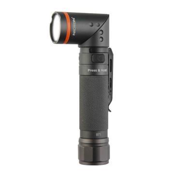 耐朗 转角手电筒 B71 无极调光 磁铁吸附 防水充电强光LED手电筒 含USB线 含18650锂电池,单位:个