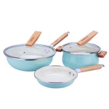 德铂伊斯科炒锅煎锅汤锅厨具三件套,DEP-600