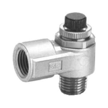 SMC低速控制用速度控制阀,标准型,金属阀体,AS2200M-02