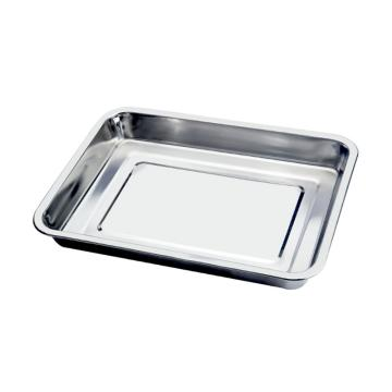 西域推荐 201不锈钢方盘,长方形托盘餐盘,商用烧烤盘 深盘50x35x4.8cm