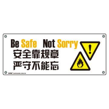 安赛瑞 安全主题横幅-安全靠规章 严守不能忘,尼龙布,150×375cm,30310