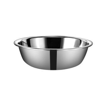 西域推荐 加厚食品级304不锈钢盆,无磁 36cm家用厨房大号商用特大和面洗脸洗衣盆