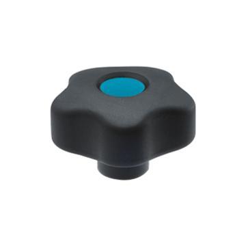 伊莉莎+冈特 凸轮旋钮,黄铜毂螺纹孔带盖帽,VCT.32 B-M5-C5,蓝色,1个