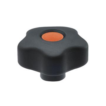 伊莉莎+冈特 凸轮旋钮,黄铜毂螺纹孔带盖帽,VCT.32 B-M5-C2,橙色,1个