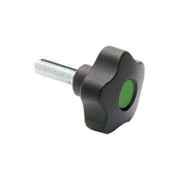 伊莉莎+冈特 凸轮旋钮,镀锌钢螺杆带毂帽,VCT.32 p-M5x20-C17,绿色,1个