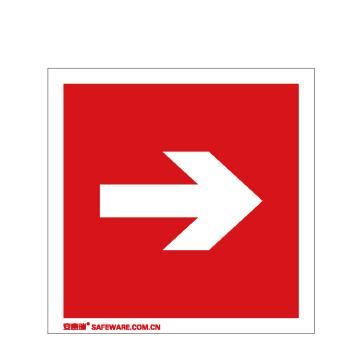 安赛瑞 自发光消防警示标签-箭头,自发光不干胶,100×100mm,20232,10片/包