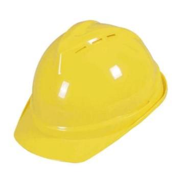 日月星 安全帽,SD-98-黄色,V型带透气孔ABS安全帽