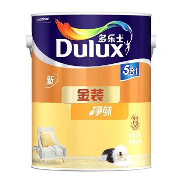 多乐士 内墙涂料,金装净味五合一,A997,白色,5L/桶