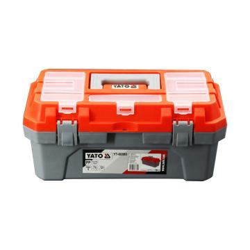 """易尔拓YATO 塑料工具箱,420X210X195mmY,17"""",T-88881"""