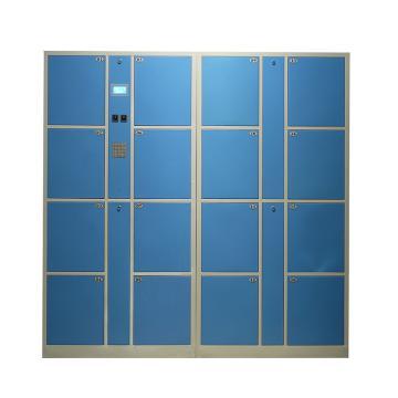 实验室16门数字密码柜,外型尺寸:H1800×W1700×D460mm,单格H407XW300XD460mm