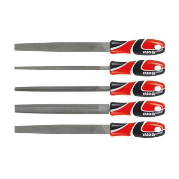易尔拓YATO 三色柄钢锉组套,5件套 1#&2# 250mm,YT-6238