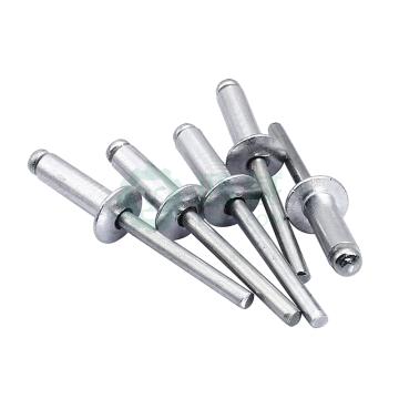 GB12618开口型扁圆头抽芯铆钉,M5X16,铝帽铁芯,500个/包