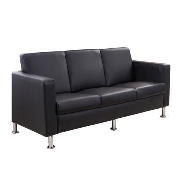 沙发款式四,三人位,DT-sf017 西皮 黑色