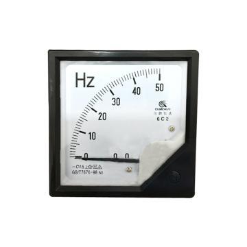 川崎电子仪表 指针式直流频率表,6C2 0-50HZ 50HZ 10V