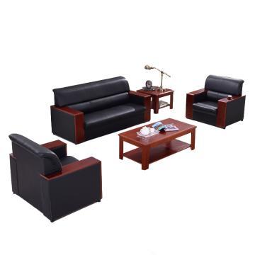 沙发款式一,1+1+3+双茶几,DT-sf005 西皮 黑色