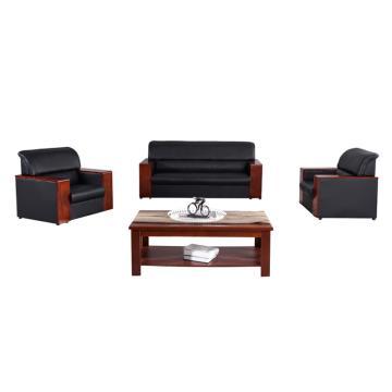 沙发款式一,1+1+3+长茶几,DT-sf004 西皮 黑色