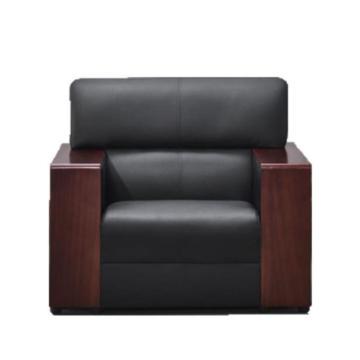 沙发款式一,单人位,DT-sf001 西皮 黑色