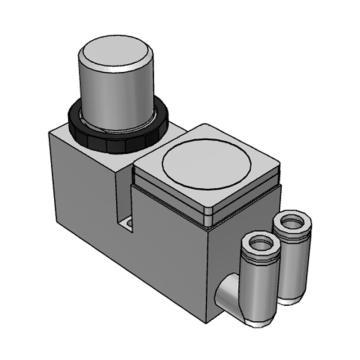 SMC 小型集装式减压阀,单体式,正面手轮型,ARM10F2-20GP