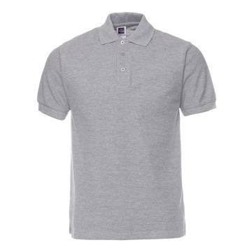 纯色大王 短袖全棉POLO衫220g,1AC03,麻灰色,XS