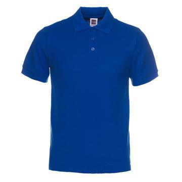 纯色大王 短袖全棉POLO衫220g,1AC03,宝蓝色,3XL