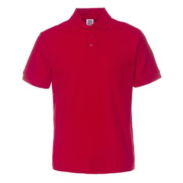 纯色大王 短袖全棉POLO衫220g,1AC03,大红色,XS