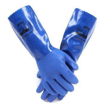 安思尔Ansell PVC防化手套,14-663-10,Edge系列 36cm 厚衬里,1副