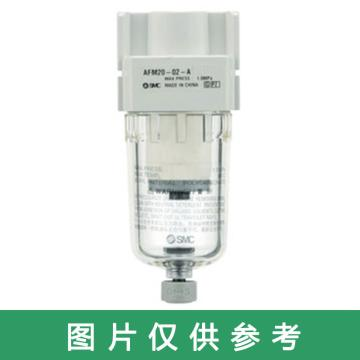 SMC 微雾分离器,过滤精度0.01μm,最大流量240L/min,AFD30-02-R-A