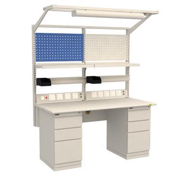 佰斯特 B柜防静电工作台,(含料盒/电源线盒)1530×700×760,PST-B-03,不含安装费