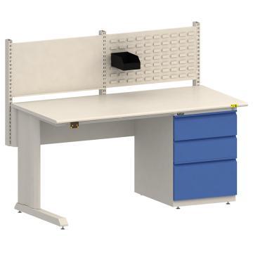 佰斯特 D柜防静电工作台,(脚配左固定脚右三抽柜,含料盒)1530×750×760,PST-D-10,不含安装费