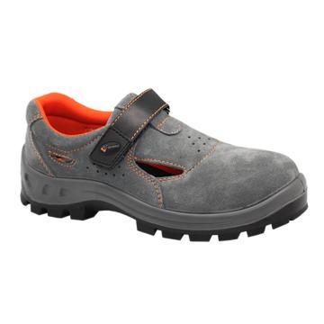 希玛 夏季绒面安全鞋,防砸防刺穿电绝缘,66063-43(同系列30双起订)