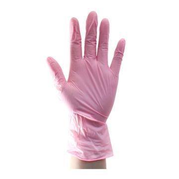 尚和倍斯特SHOWA BEST 一次性丁腈手套,885-M,粉色,0.08mm,100只/盒