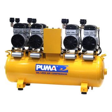 巨霸PUMA 无油静音直接式空压机,WE1130A-4,单相(不带电线)