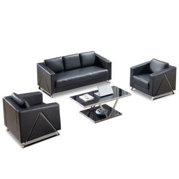 沙发款式三,1+1+3+长茶几,DT-sf014 西皮 黑色