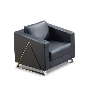 沙发款式三,单人位,DT-sf011 西皮 黑色