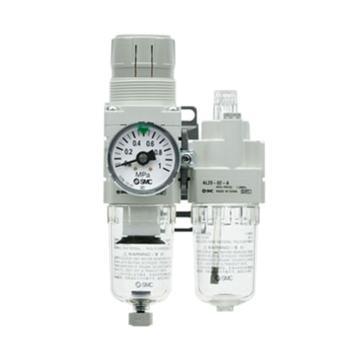 SMC 二联件,过滤减压阀+油雾器,AC30A-03G-V-A