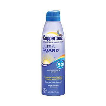 确美同(Coppertone)水宝宝透薄清新防晒喷雾,177ml SPF50 PA+++
