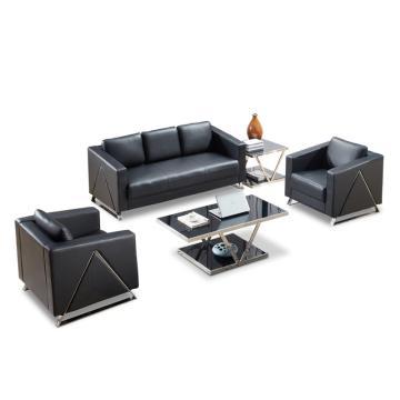 沙发款式三,1+1+3+双茶几,DT-sf015 西皮 黑色
