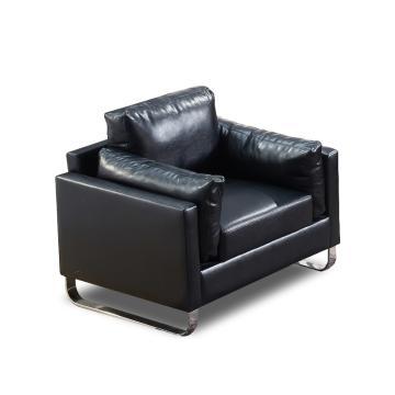 沙发款式二,单人位,DT-sf006 西皮 黑色