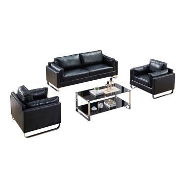 沙发款式二,1+1+3+长茶几,DT-sf009 西皮 黑色
